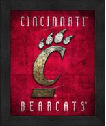 "Cincinnati Bearcats ""Retro College Logo Map"" 13x16 Framed Print  - $39.95"