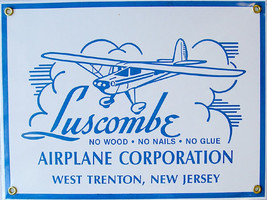 Luscombe Airplane Corporation Flying Plane Vintage Aviation Metal Sign - $29.95