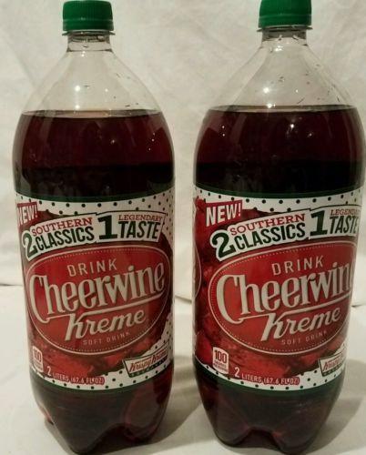 71f249f16269 cheerwine krispy kreme soda pop 2 bottles 2 liters Rare Limited Edition -   21.40