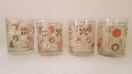 Vintage Culver's Ltd. Christmas Cocktail Glasses Potpourri Pattern Set Of 4 - $63.24