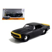 1967 Chevrolet Camaro Matt Black /Yellow 1/24 Diecast Model Car by Jada ... - $31.82