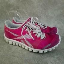 Reebok Womens RealFlex Optimal J87970 Size 8.5 Pink Sample Running Shoes - $29.99