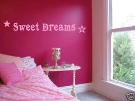 """SWEET DREAMS Girls Bedroom Nursery Wall Art Decal 36"""" - $18.80"""