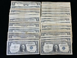 LOT of (10) TEN  1957 Silver Certificate notes $1 Blue Seal   Notes 10 C... - $27.50