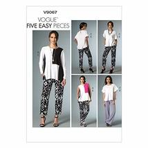 VOGUE PATTERNS V9067 Misses' Top and Pants Sewing Template, Y (XSM-SML-MED) - $8.82