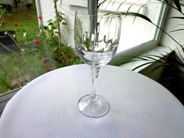 Towle Crystal Tiara Pattern Clear Wine Glass - $11.88