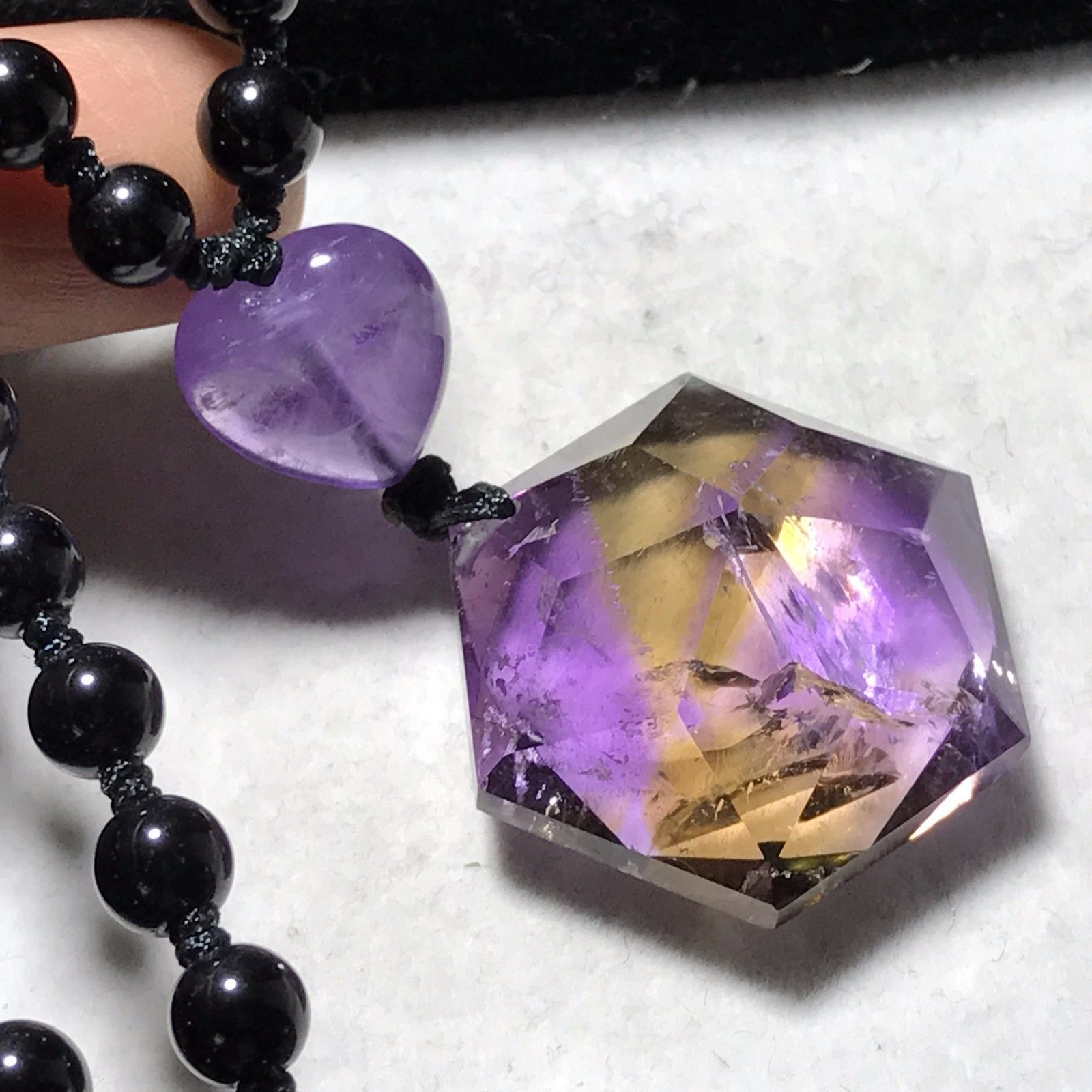 Primary image for Natural Ametrine Quartz Crystal Star of David Pendant Reiki Healing 19g H092803