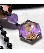 Natural Ametrine Quartz Crystal Star of David Pendant Reiki Healing 19g ... - $25.69