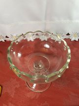Vintage Indiana Glass Clear Teardrop Footed Compote Fruit Bowl image 4