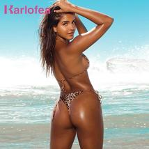 Karlofea Women Two Pieces Separate Swimsuit Sexy Summer Print Beach Vaca... - $36.10