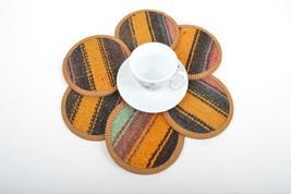 kilim coaster,drink coasters,coffee Coaster, mug rug Coasters 4,5, cost... - $29.00