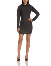 Bench Oakleigh Knit Dark Gray Long Sleeve Hooded L Sexy Clubbing Knitted Dress image 2