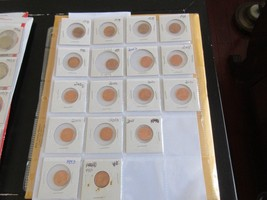 Lincoln Penny , Lot of 17 , 1959-2011 . AU / UC - $15.00