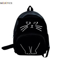 Lovely Cat Printing Backpack Women Canvas School Backpack For Teenagers - $30.00