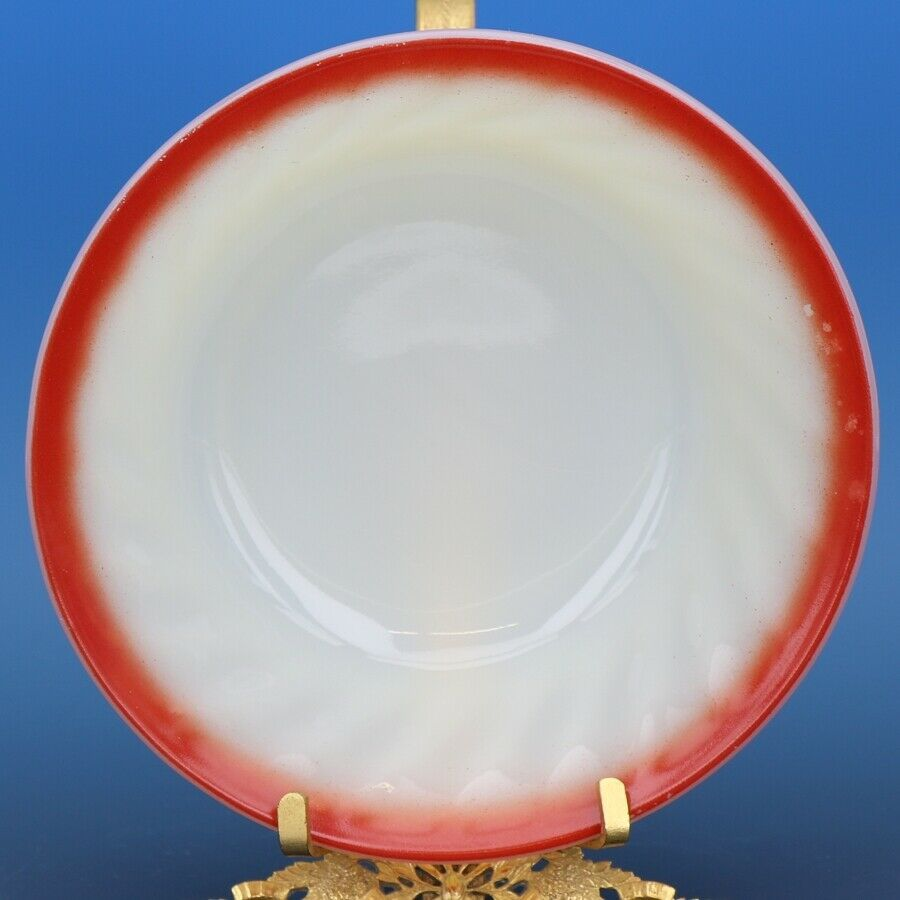 "Vintage Fire King Sunrise Red Swirl 5"" Desert Fruit Bowls - a set of 2"
