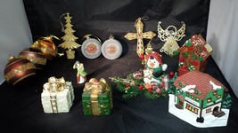 Christmas Tree Ornaments: Holiday Decorations, Set of 15 Pieces, - $16.44