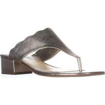 Marc Fisher Veva Dress Thong Sandals, Bronze, 5 US - $36.47