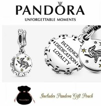 New Authentic Pandora S925 ALE Harry Potter Hufflepuff Dangle Charm 798832C01 - $18.27
