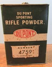 Rare Vintage Dupont Number 4759 Smokeless Sporting Rifle Gun Powder Tin ... - $42.08