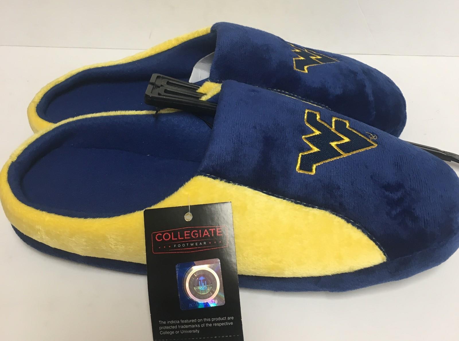 West Virginia Men's Cushion Memory Soles Slippers Shoe Sz L (11-12) image 5