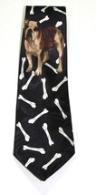 Bulldog French English Dog Bone Necktie Tie Fratello UGA Georgia Yale Go... - $28.49