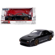 1985 Mazda RX-7 (FC) Black with Gold Wheels JDM Tuners 1/24 Diecast Model Car by - $35.93