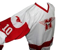 Custom Name # Youngblood Movie Hamilton Mustangs Hockey Jersey White Any Size image 4