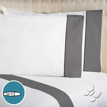 New Home Bedding ELEGANCE WHITE GRAY Sheet Set Twin Full Queen King - $71.20