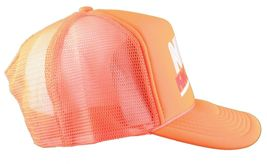 Boobies Rule!!! Nice Guns Boobs Neon Orange White Trucker Snapback Hat Cap NWT image 3