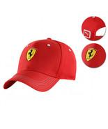 Puma Ferrari Red Logo Hat Rosso Corsa Wide Brim Strap Back Baseball Cap - $28.70