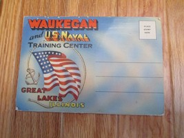Waukegan US Navy TrainingCenter Great Lakes Illinois IL Souvenir Folder ... - $3.99