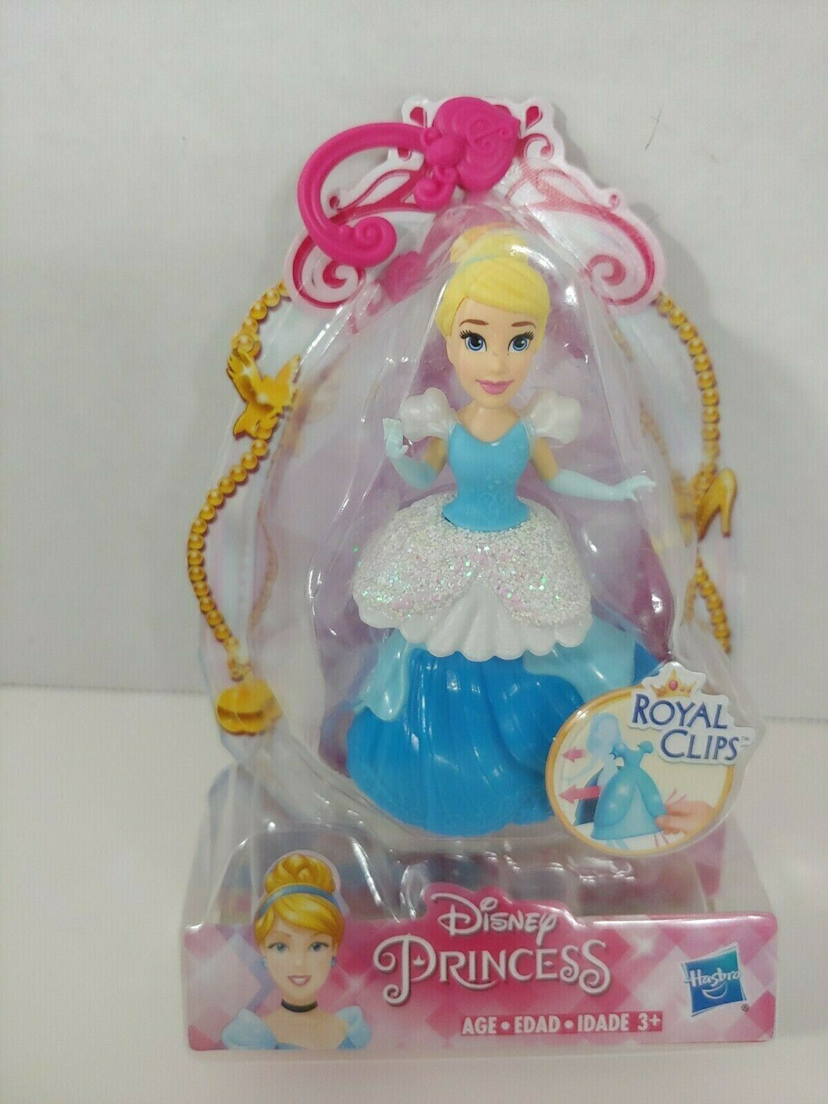 Primary image for Disney Princess Cinderella doll Hasbro Royal clips clip on dress