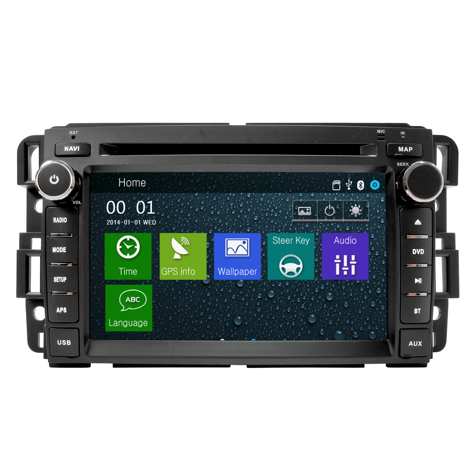 IN DASH DVD GPS NAVIGATION MADE FOR GMC/BUICK/CHEVROLET 2007-2012 VEHICLES
