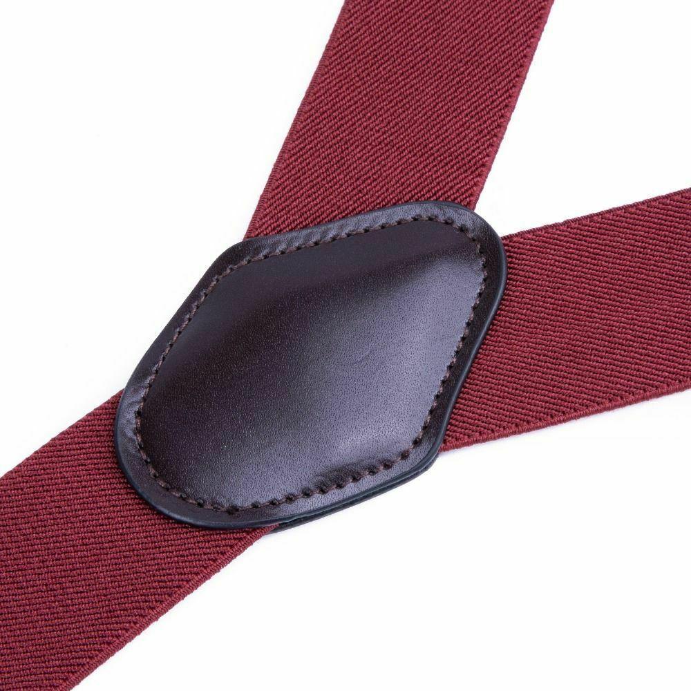 Unisex Suspender Set Width Adjustable Elastic Fashion Braces Suit Wear 125Cm image 4
