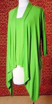 ETOILE green 2 piece stretch rayon tank blouse & sweater jacket M (T47-02I8G) image 4