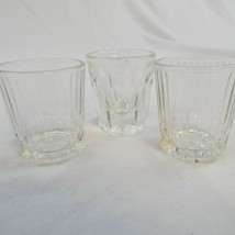 Lot of 3 Anchor Hocking Shot Glasses 2 Ribbed, 1 Rock Glass Style - $9.67