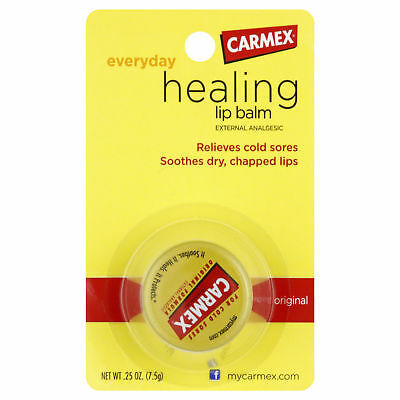 Carmex Everyday Healing Lip Balm  External Analgesic Cold Sores Dry Chapped Lips