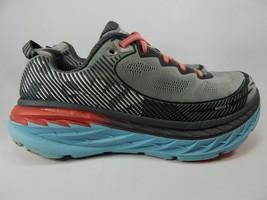 Hoka One One Bondi 5 Size US 9.5 M (B) EU 42 Women's Running Shoes Gray 1014759