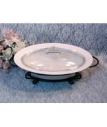Corning Ware White Flora Oval Casserole Baking Dish Vintage Cookware Bak... - $29.99