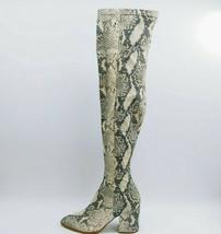 Steve Madden Womans Jacie Over the Knee High Heel Boot Snake Skin Sz 7 M... - $40.37