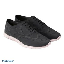 COLE HAAN Zero Grand Black Suede Wingtip Oxford Shoes Women's 9 US 39.5 EU - $55.00