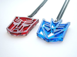 Transformers Necklaces - Optimus Prime And Megatron Friendship Necklece - $25.95