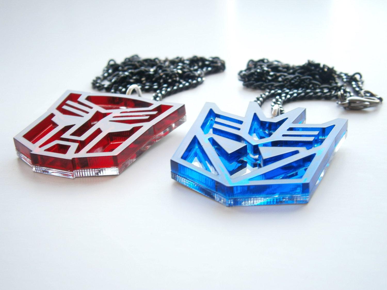 Transformers Necklaces - Optimus Prime And Megatron Friendship Necklece