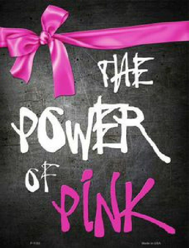 The Power of Pink Ribbon Metal  Sign