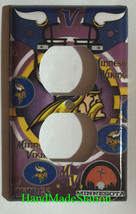 Minnesota Vikings Light Switch Power Outlet Duplex Wall Cover Plate Home Decor image 2