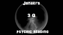 Intuitive 3 Q Psychic Reading Fortune Telling Spiritual Prediction - $21.00