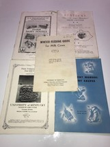 1930s 1940s Tobacco , Milk Cows , Dairy Kentucky Lot of 5  pamplets UK Look - $23.36