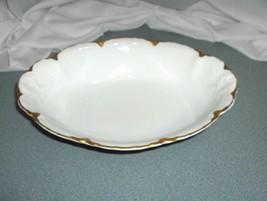 Vintage Royal Austria O & E G China Gold Trim Oval Bowl AUS89A NICE - $74.25