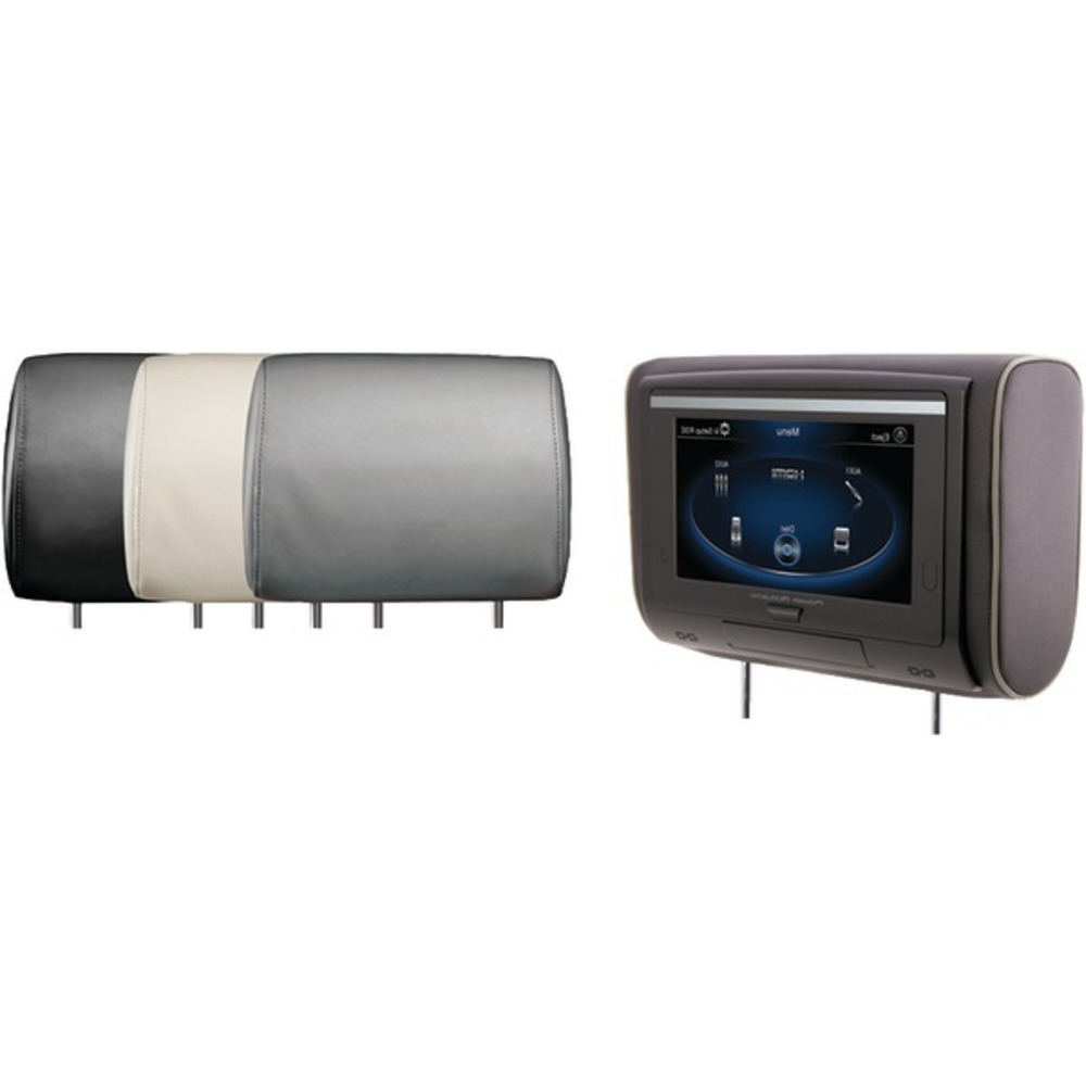 Power Acoustik HDVD-94 9 LCD Universal Headrest with IR & FM Transmitters & 3 In