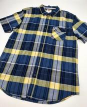 Men's Levi's Blue | Yellow | Black Plaid S/S Button Down Shirt - $69.00